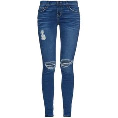 Current/Elliott The Ankle mid-rise super-skinny jeans (1,875 MXN) ❤ liked on Polyvore featuring jeans, pants, bottoms, pantalones, indigo, current elliott skinny jeans, skinny ankle jeans, blue jeans, indigo blue jeans and medium rise jeans