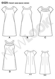Simplicity 6429 Women's Dresses