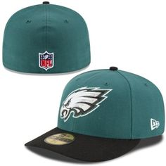 new concept b3fee 394b8 Men s New Era Midnight Green Philadelphia Eagles On-Field Low Crown 59FIFTY  Fitted Hat Philadelphia