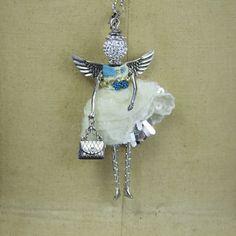 Aquamarine Angel Necklace