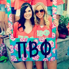Pi Beta Phi Bid Day Frame Idea #PiBetaPhi #BidDay