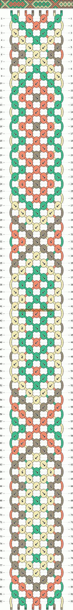 Normal Friendship Bracelet Pattern #10540 - BraceletBook.com