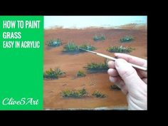 How to Paint Grass Quick and Easy Acrylic Painting Painting Tutorial - YouTube