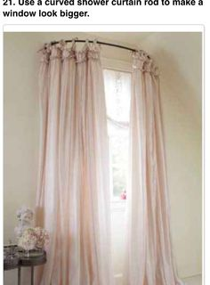 Superb Curved Shower Curtain Rod To Make Windows Look Bigger