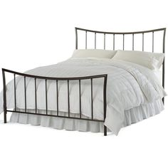 Quinn Metal Bed or Headboard ($250) ❤ liked on Polyvore featuring home, furniture, beds, bedroom, decor, king size metal headboard, king size bed, king size metal bed, metal twin bed and king size headboards