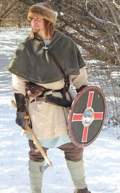 Here are a few educational links to the primary research, inspired by this image: http://urd.priv.no/viking/, http://www.miklagard.nvg.org.au/costume/rus/trader/hat_text.htm