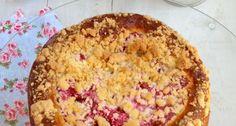 Er gaat niets boven een zelf gebakken rabarbertaart, ik maakte er een crumble taart van.