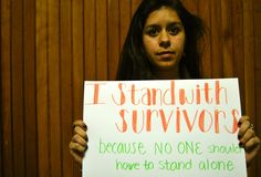 I stand with survivors because no one should have to stand alone.