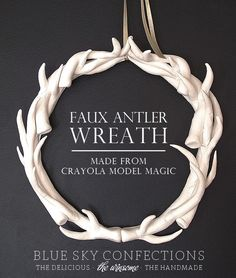 Blue Sky Confections: Faux Antler Wreath