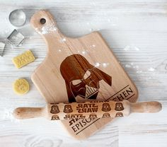 Star Wars cutting board and rolling pin  Darth Vader Wooden