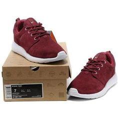 separation shoes 42ffb 87324 Bas Prix Nike Roshe Run Homme Navy Bordeaux Rouge Blanche