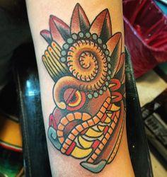 Quetzalcoatl aka The Feathered Serpent by Sharky Hernandez at Tia Juana Tattoo in Tijuana, Baja California, Mexico. : tattoos