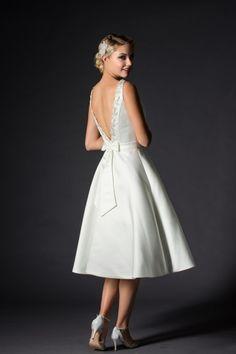 Rita Mae Tea Length Wedding Dress 1033