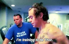 8. Working out. #Thor