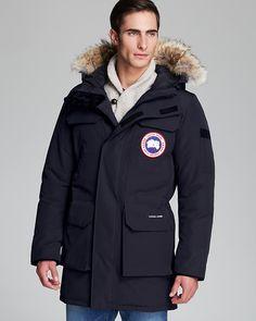 Canada Goose coats online discounts - Parka navy capuche vraie fourrure Montebello Canada Goose pour ...