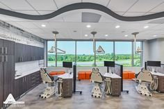 Rustic Open Bay. Dental Office Design by Arminco Inc.