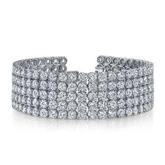 14k White Gold 41ct TDW Pave Diamond Tennis Bracelet (F-G, SI2-SI3) | Overstock.com Shopping - The Best Deals on Diamond Bracelets