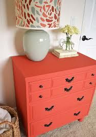 painted dresser-- Color of the Month on LoveNestDesign blog-- June is Coral and July is Mint Green