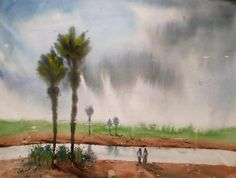landscape  - Creative Art in Painting by charusohel Rana in Portfolio my  water color landscape.......BEAUTIFUL BANGLADESH at Touchtalent