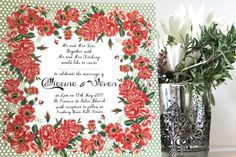 Vintage Country Garden Roses Wedding Invitation by KitchCards