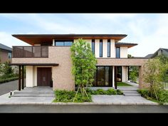 Architecture in Japan Japanese Modern House, Modern Tropical House, Modern Bungalow House, Modern House Design, Building Design, Building A House, Property Design, Street House, Floating House