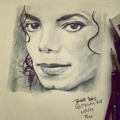 Drawing 'Michael Jackson' by Tridib Das