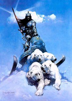 Frazetta, Frank (b,1928)- Polar Bear Chariot