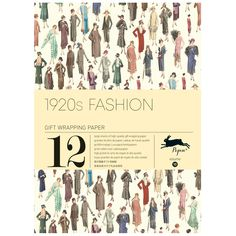 This 1920s Fashion gift and creative paper book contains four pages of introduction and 12 large sheets of high-quality wrapping paper, each with a unique design