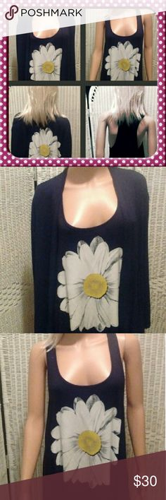NEW DAISY TEE AND MATCHING JACKET Brand new never worn jacket and tee.  Super soft 95% rayon and 5% spandex. Tee is deep hole cut as shown in pictures. Made in USA Haute Apparel Tops