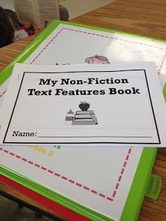 Non fiction text feature book.  Have them cut out magazines etc and glue examples in their own book.   Independent practice