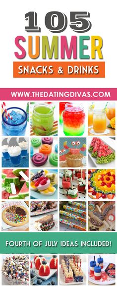 Fun snacks and refreshing drinks that are the perfect compliment to any summer party! www.TheDatingDivas.com