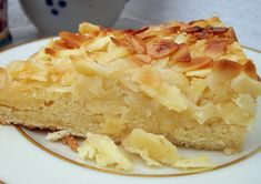 Apple and almond cake with eggnog - CAKE Apple And Almond Cake, Almond Cakes, Apple Pie, Pie Cake, No Bake Cake, Easy Cake Recipes, Dessert Recipes, Eggnog Cake, German Baking