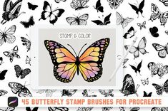 Skill Training, Ipad Pro, Brushes, Butterflies, Create Your Own, Software, Stamps, Commercial, Pencil