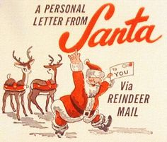 A Personal Letter From Santa - Roger Wilkerson, The Suburban Legend! Retro Christmas Decorations, Vintage Christmas Images, Vintage Holiday, Christmas Pictures, Christmas Mail, Christmas Tree Lots, Christmas Time Is Here, Christmas Crafts, Christmas Scenes