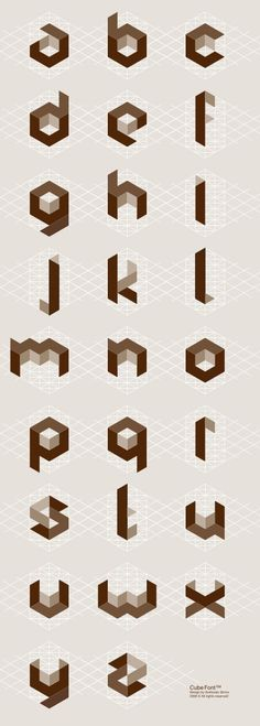 of the World's Most Creative Alphabets CW took me a long time to get the concept of creating these by hand~Cubic alphabet by Svetoslav Simov.CW took me a long time to get the concept of creating these by hand~Cubic alphabet by Svetoslav Simov. Alphabet Design, Typography Letters, Graphic Design Typography, Japanese Typography, Typography Poster, Graphisches Design, Logo Design, Nail Design, Brochure Design