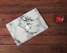 White Marble Macbook Pro Hard Plastic White Marble Case