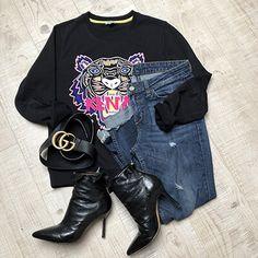 Sweat Shirt, Gucci Boots, Jerome Dreyfuss, Jeans Boyfriend, Lookbook, Liu Jo, Suzy, Shirts