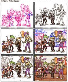 KnT Comic Panel Process by Z-T00N on DeviantArt