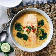 FRAGRANT COCONUT POACHED SALMON WITH RED LENTILS | The Healthy Hunter