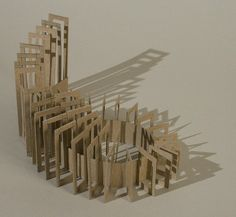 Chipboard Study te realiseren in keramiek? Conceptual Model Architecture, Movement Architecture, Architecture Images, Conceptual Art, Origami Architecture, 3d Design, Design Model, Arch Model, Concept Diagram