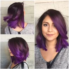 Purple hair by Larisa at Ubungalows by Butterfly Loft salon.