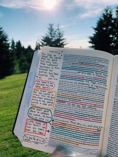 Bible Study Notebook, Bible Study Journal, Bible Verses Quotes, Bible Scriptures, Bibel Journal, Bible Doodling, Jesus Is Life, Bible Notes, Bible Encouragement