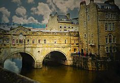 """This is the world famous  """"Pulteney Bridge"""" in Bath, England.  Built in 1774, this palladian style bridge which was designed by Architect Robert Adam in 1774, is one of only four bridges in the world to have shops on both sides of its span.  On Sale now at Fine Art America!  #PulteneyBridge #bathengland"""