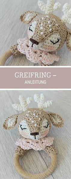 Anleitung für einen gehäkelten Beißring für Babys, #Häkelanleitung / #crochet pattern for a #teethingring made by Wolltastisch via DaWanda.com