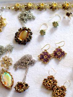 Neue Schmuckstücke auf der neuen Homepage!! Swarovski, Schmuck Design, Beaded Jewelry, Crochet Earrings, Drop Earrings, Fashion, Pearl Decorations, Neck Chain, Handmade