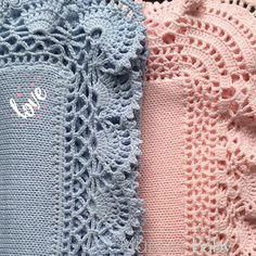 Muito amor nas mantas de tricot com acabamento em croche. Rosa ou azul são perfeitas para compor as saídas de maternidade . #manta #saidadematernidade #enxovaldebebe #enxoval #maedemenina #maedemenino#maisonbaby