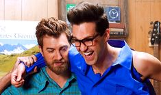 Too Many Rhett and Link Gifs Best Shows On Youtube, Link Gif, Good People, Amazing People, Good Mythical Morning, Lifelong Friends, Infatuation, Markiplier, Mom And Dad