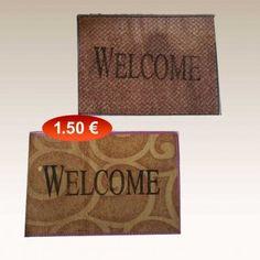Πατάκι εξώπορτας 35Χ55 εκ. WELCOME σε διάφορα χρώματα 1,50 €