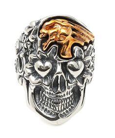 Skull with Screaming Skull RING