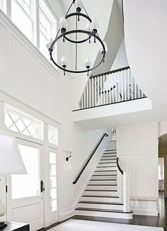 Paul Moon Design - Susan Marinello -Amazing two story foyer with Dorset Two-Tier. Paul Moon Design – Susan Marinello -Amazing two story foyer with Dorset Two-Tier Chandelier Foyer Chandelier, Foyer Lighting, Ring Chandelier, Interior Lighting, Lighting Design, Interior Exterior, Home Interior, Interior Design, Visual Comfort